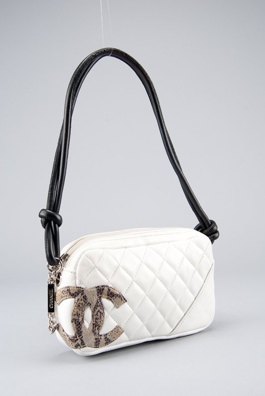 Chanel White Quilted Leather Cambon Pochette Shoulder - 3