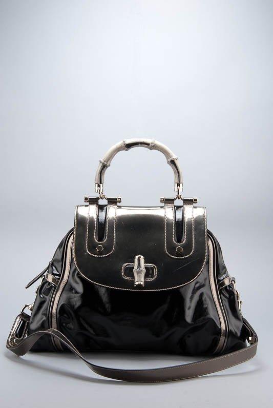 Gucci Pop Bamboo Large Top Handle Handbag