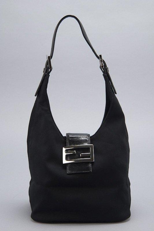 ... store fendi vintage black satin hobo bag 15883 b388b f2df044d13