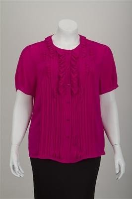 New Escada Magenta Silk Pleated Blouse (14/44)