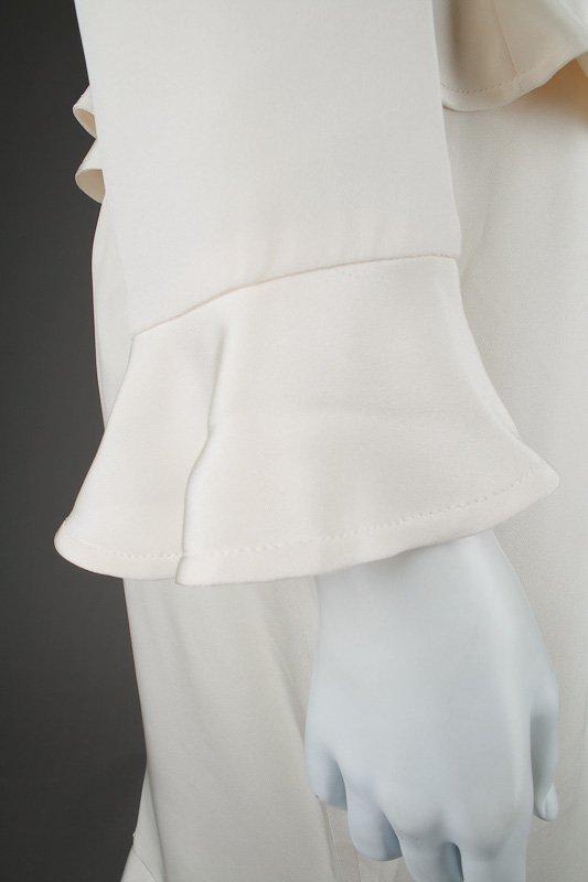 New Escada Silk Ruffle Jacket & Skirt Suit (14/44) - 3