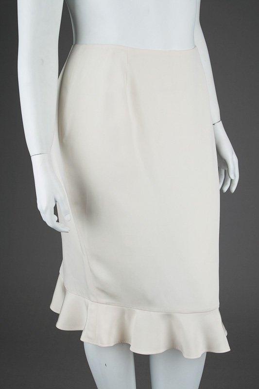 New Escada Silk Ruffle Jacket & Skirt Suit (14/44) - 4