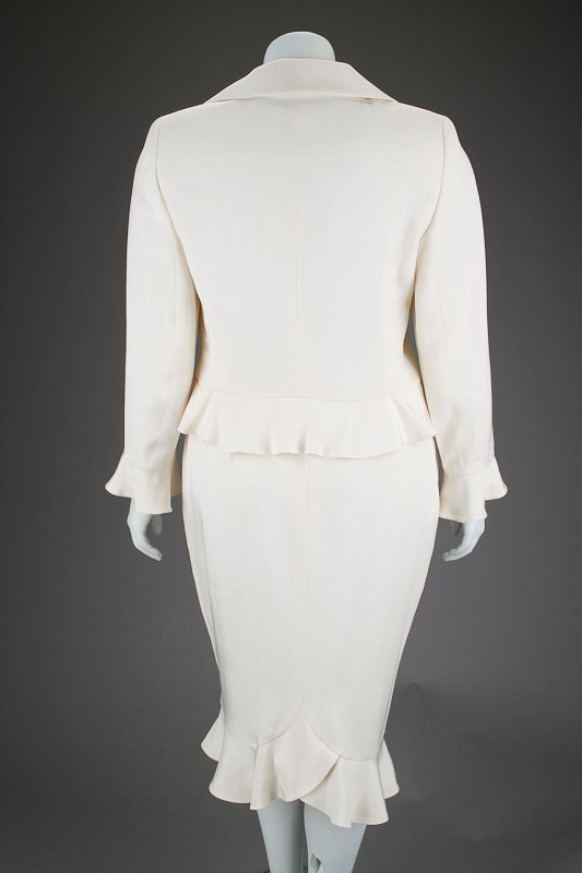 New Escada Silk Ruffle Jacket & Skirt Suit (14/44) - 5