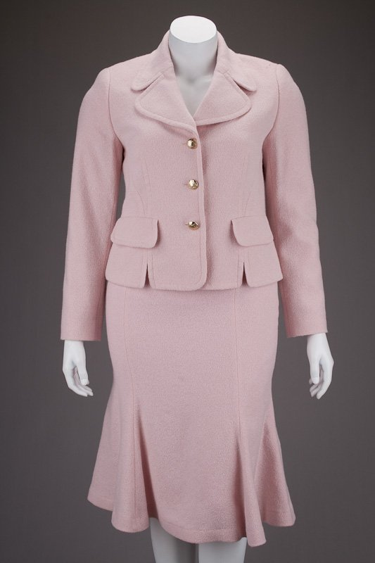 Escada Pink Wool Jacket & Skirt Suit (12/42)