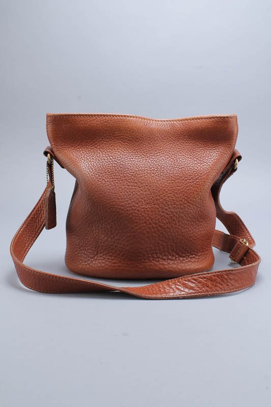 COACH BROWN VINTAGE SONOMA LEATHER BUCKET SHOULDER BAG