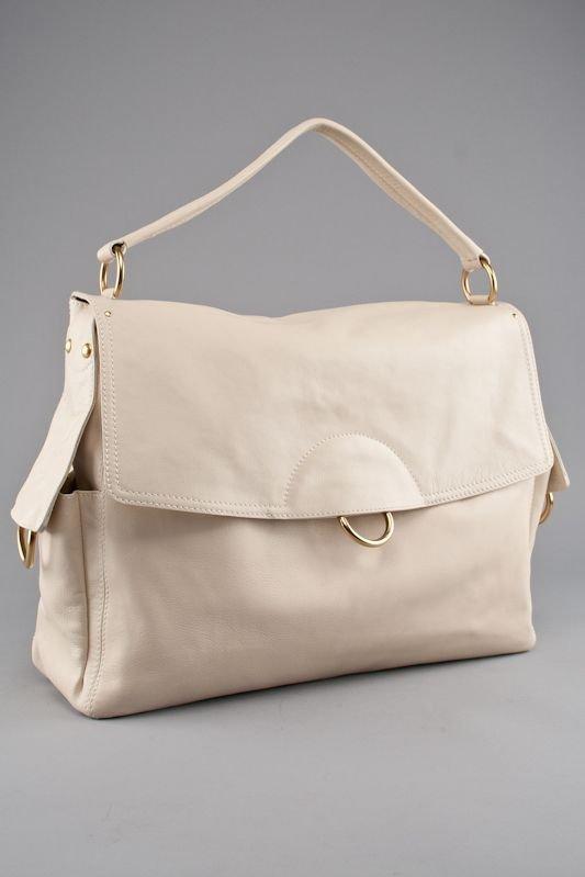 Salvatore Ferragamo White Leather Tote Bag