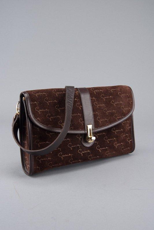 Givenchy Brown Suede Signature Shoulder Bag