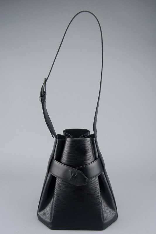 Louis Vuitton Black Epi Leather Sac D'Epaule Bag