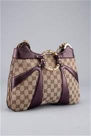Gucci Limited Edition Monogram Bamboo Circle Handbag
