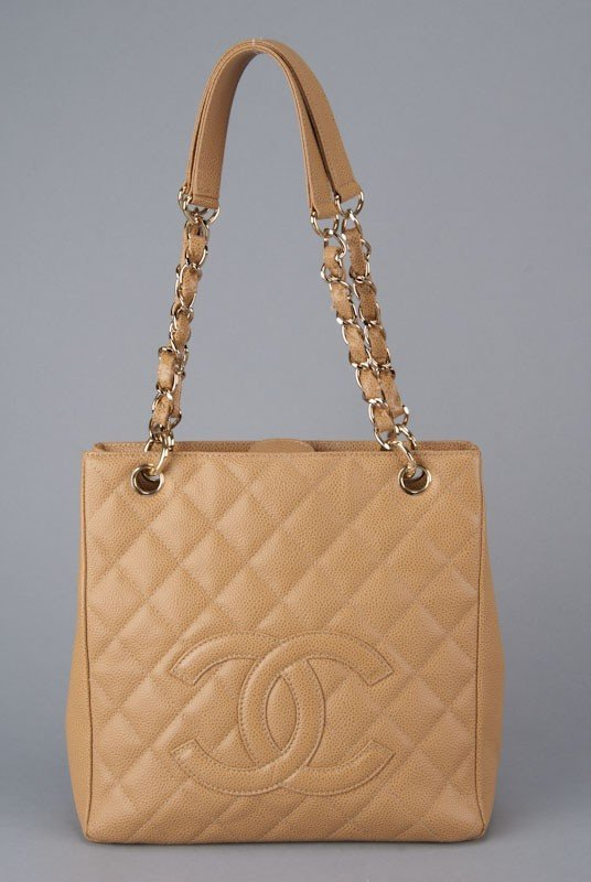 Chanel Quilted Caviar Leather Shopper