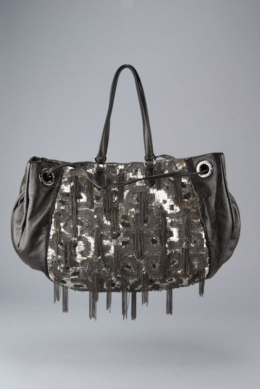 Valentino Garavani Graphic Sequin Chain Tote Bag