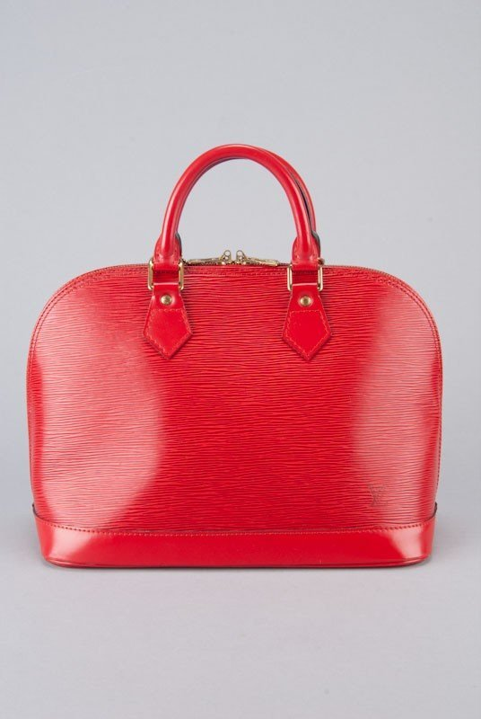 Louis Vuitton Red Epi Leather Alma PM Bag