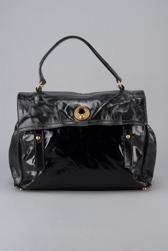 YSL Yves Saint Laurent Black Large Muse 2 Bag