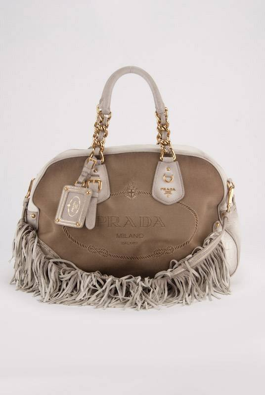 Prada Fringe XL Deerskin, Lizard & Crocodile Trim Bag