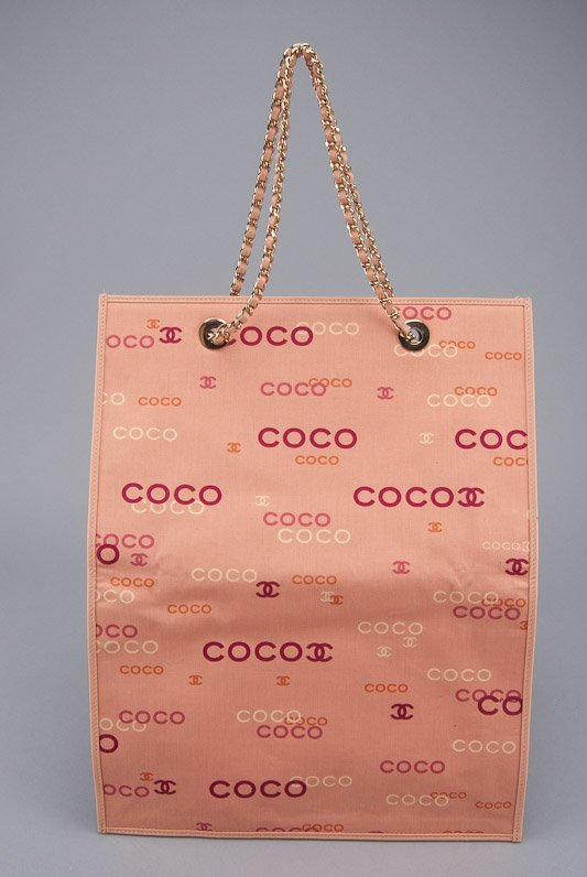 Chanel Coco Pink Signature Canvas Tote