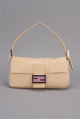 Fendi Lambskin Leather Classic Baguette Bag