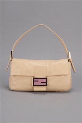 Fendi Lambskin Leather Classic Baguette Bag