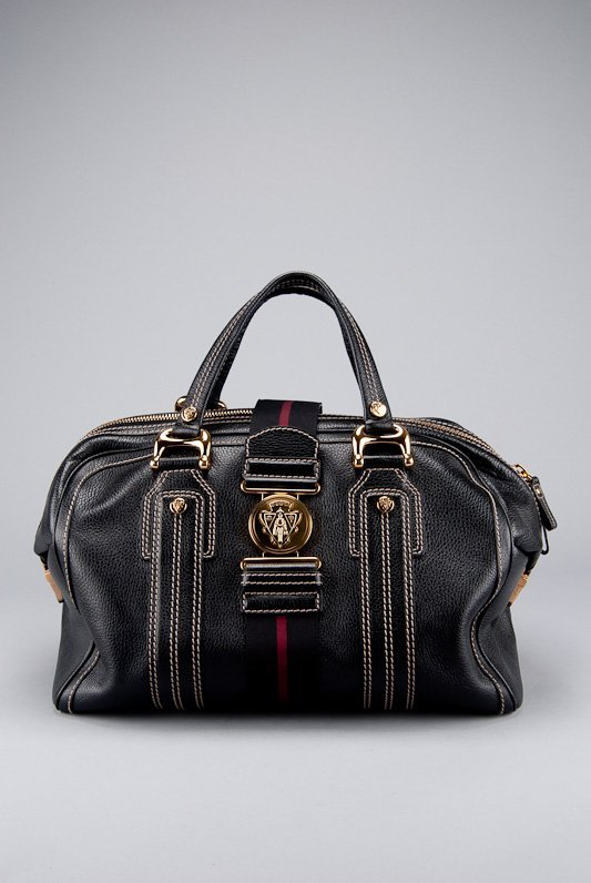 Gucci Black Leather Babouska Everyday Bag