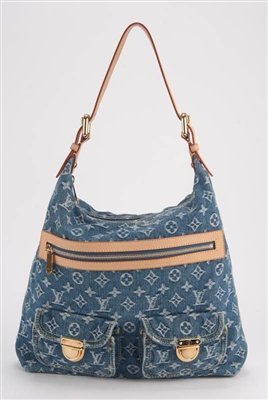Louis Vuitton *Rare* Monogram Denim Baggy PM Bag