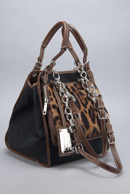 Dolce & Gabbana Black Canvas Tote Bag