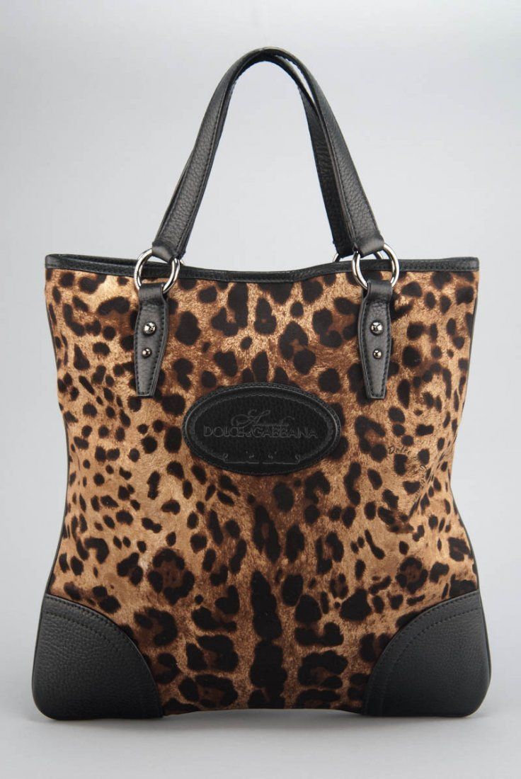 New Dolce & Gabbana Leopard Tote Bag
