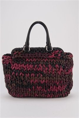 Prada Extra Large Runway Collection Woven Leather Tote