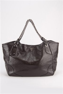 Prada Cervo Jumbo Deerskin Chain Strap Bag