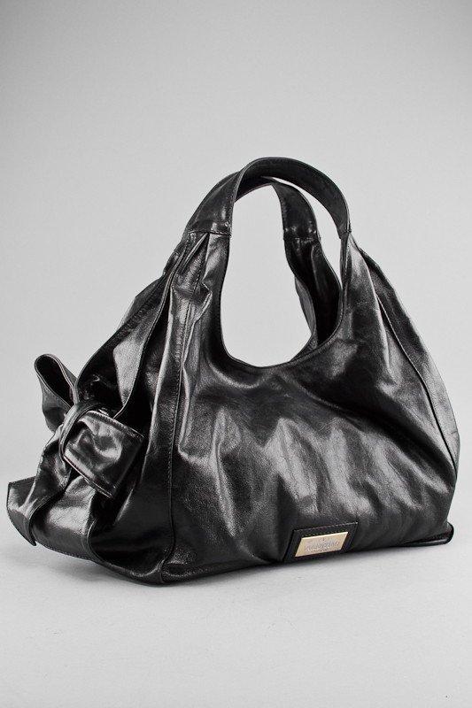Valentino Black Coated Canvas Nuage Tote Bag