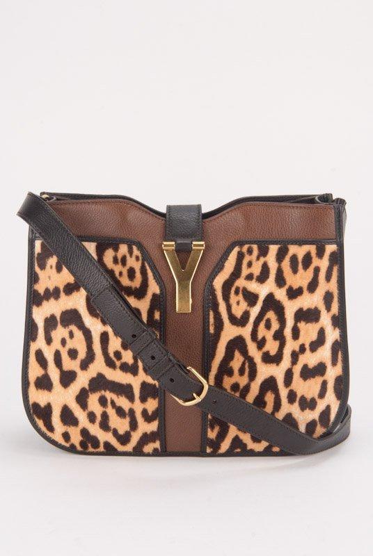 YSL Yves Saint Lauren Leopard Icon Cross-Body Shoulder