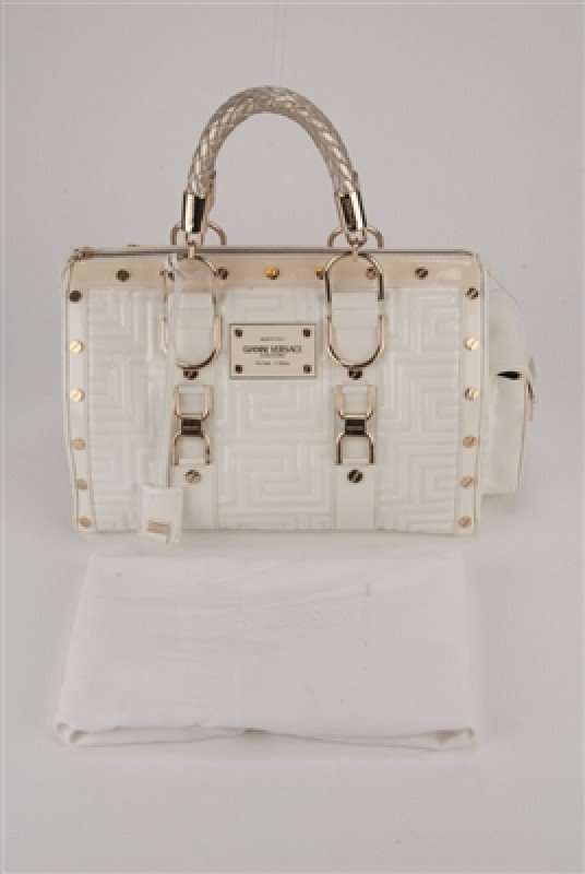 """Gianni Versace Couture White Large """"Snap Out Of It"""" Bag - 10"""