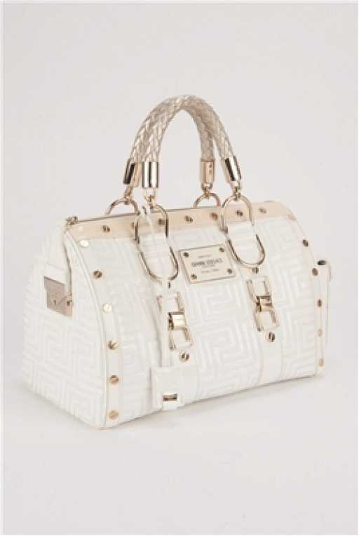 Gianni Versace Couture White Large Snap Out Of It Bag See Sold Price