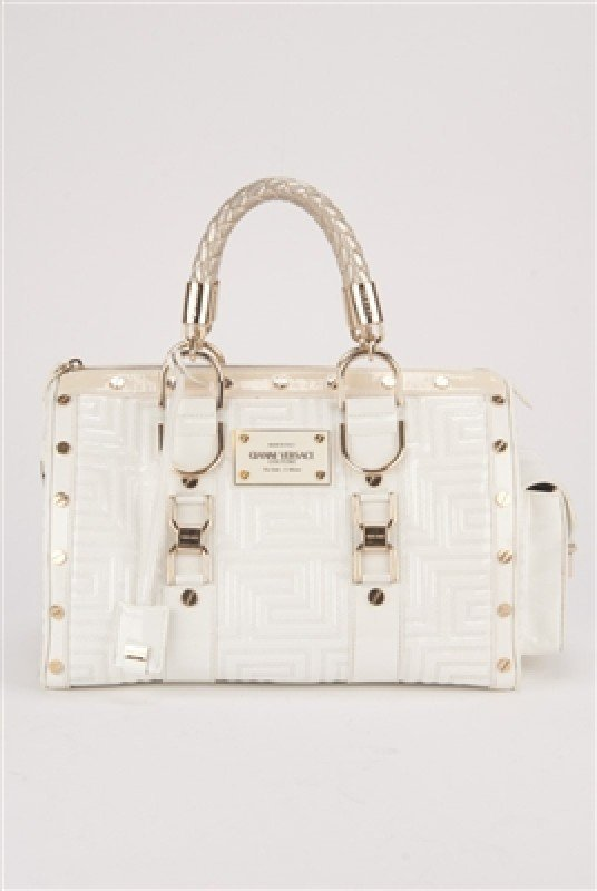 """Gianni Versace Couture White Large """"Snap Out Of It"""" Bag - 2"""
