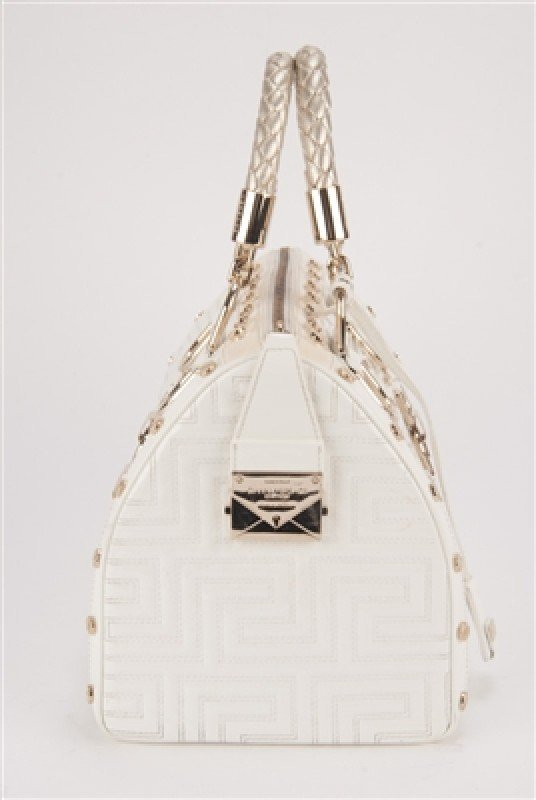 """Gianni Versace Couture White Large """"Snap Out Of It"""" Bag - 3"""