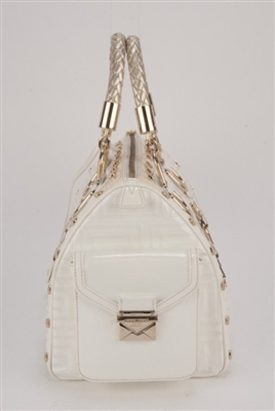 """Gianni Versace Couture White Large """"Snap Out Of It"""" Bag - 4"""