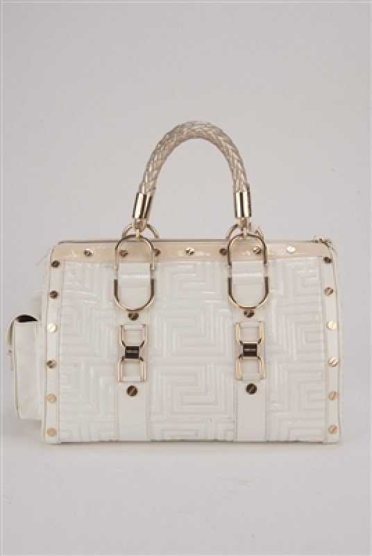 """Gianni Versace Couture White Large """"Snap Out Of It"""" Bag - 5"""