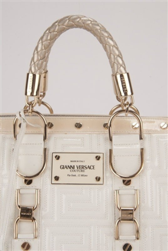 """Gianni Versace Couture White Large """"Snap Out Of It"""" Bag - 6"""