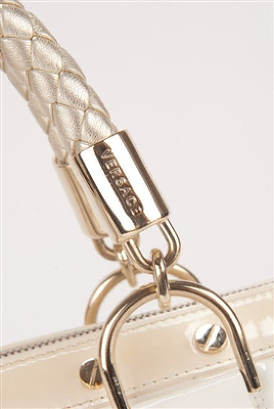 """Gianni Versace Couture White Large """"Snap Out Of It"""" Bag - 7"""