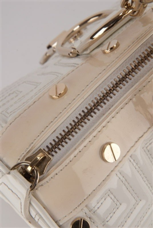 """Gianni Versace Couture White Large """"Snap Out Of It"""" Bag - 8"""