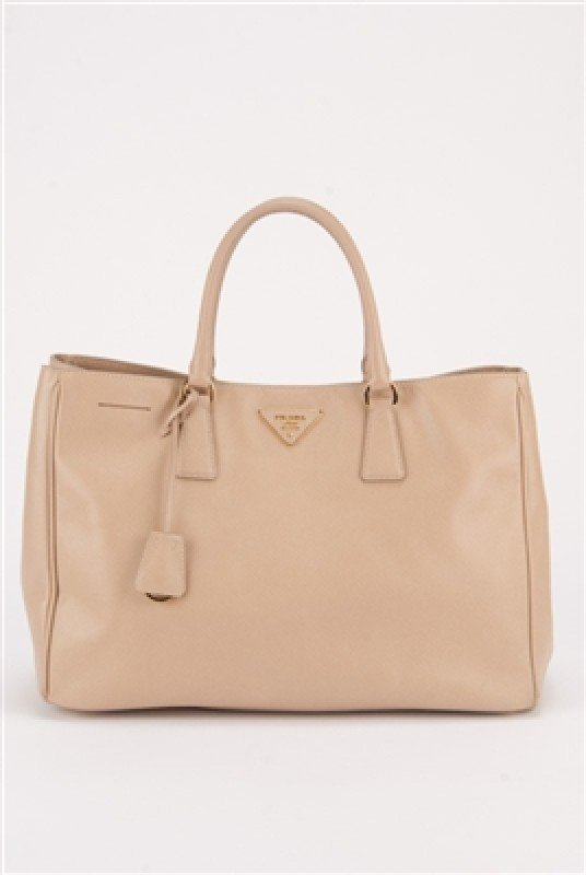 Prada Nude Saffiano Large Shopping Lux Tote Bag