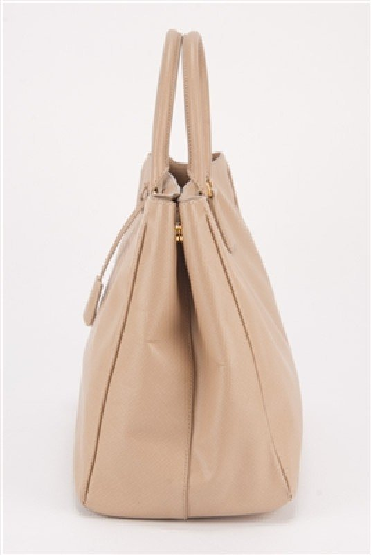 Prada Nude Saffiano Large Shopping Lux Tote Bag - 2