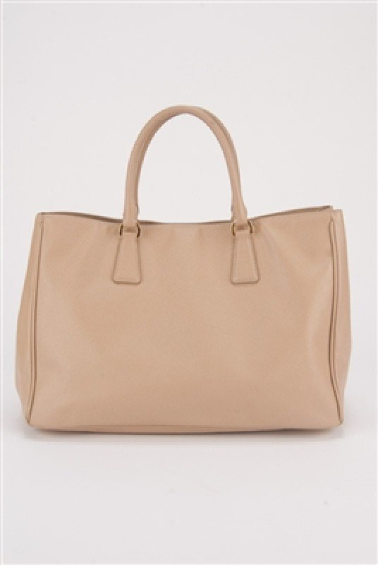 Prada Nude Saffiano Large Shopping Lux Tote Bag - 3