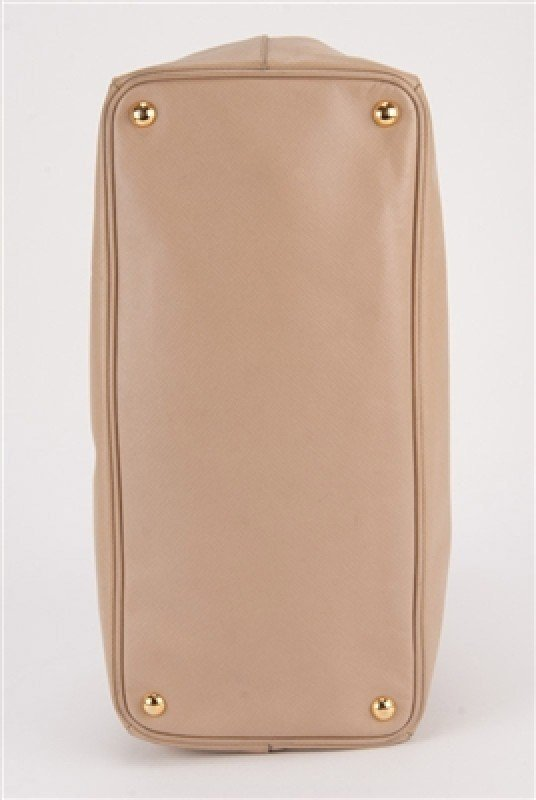 Prada Nude Saffiano Large Shopping Lux Tote Bag - 4