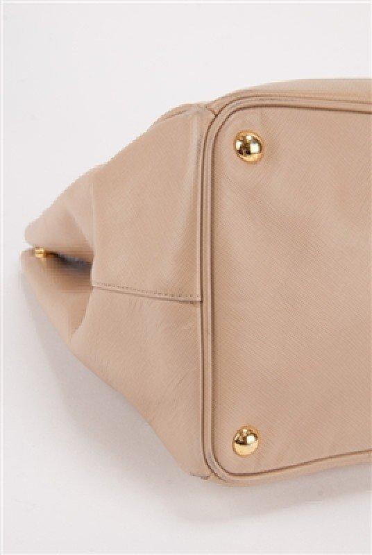 Prada Nude Saffiano Large Shopping Lux Tote Bag - 6