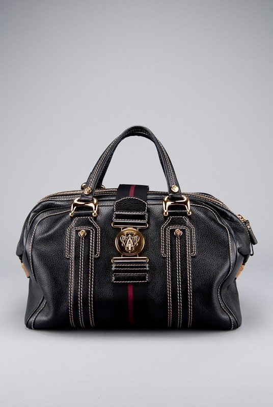 Gucci Black Leather Babouska Everyday Bag