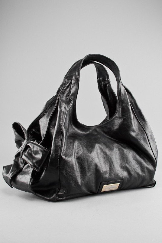 Valentino Black Coated Canvas Nuage Tote Bag