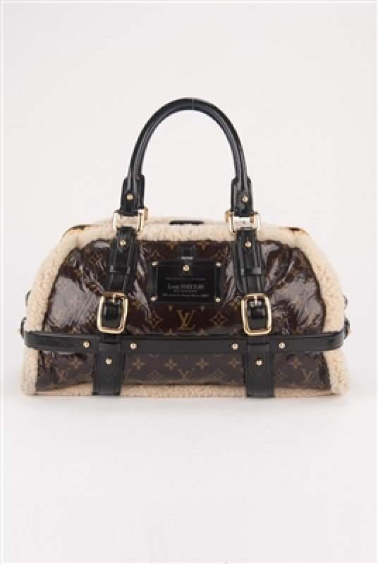 Louis Vuitton Limited Edition Shearling Storm Frame Bag
