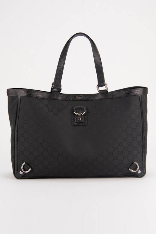 New Gucci Monogram Large Abbey Shopper Tote