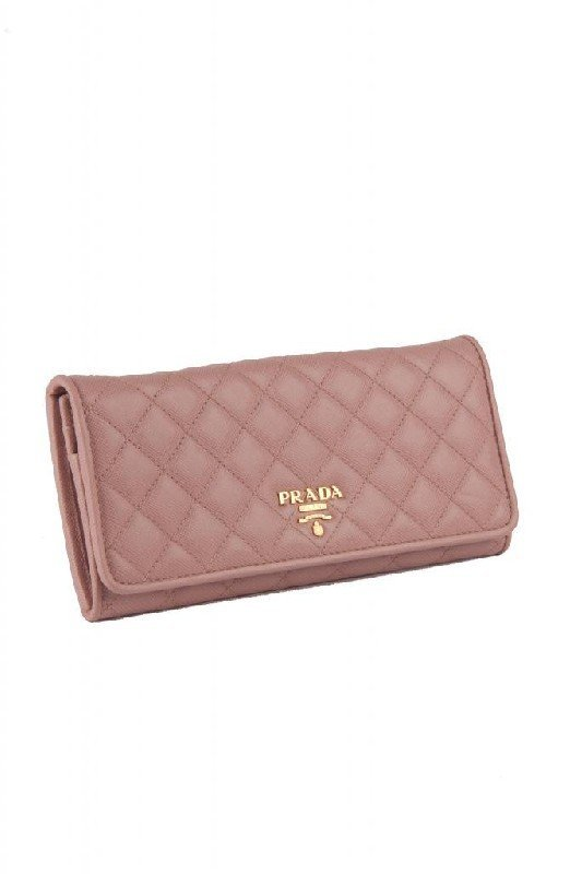 New Prada Pink Puffy Quilted Leather Continental Wallet - 2