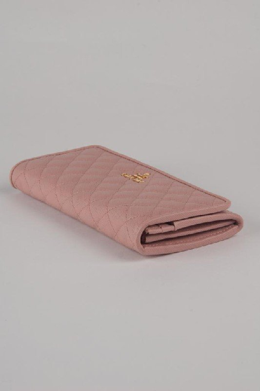 New Prada Pink Puffy Quilted Leather Continental Wallet - 4