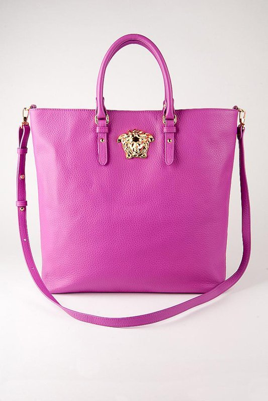 New Versace Palazzo Large Leather Shopper Tote Bag